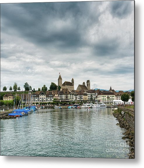 Rapperswil Metal Print featuring the photograph Rapperswil Castle by DiFigiano Photography