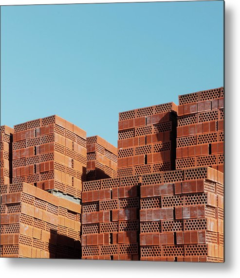 Clear Sky Metal Print featuring the photograph Red Bricks Outside by Am2photo