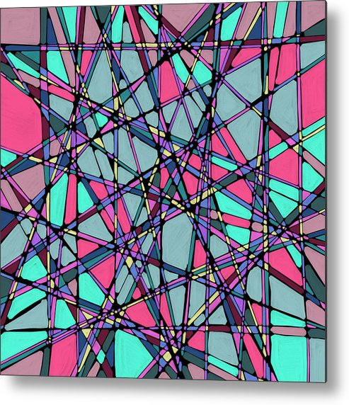 Nonobjective Metal Print featuring the digital art Spaces We Inhabit #010 by James Fryer