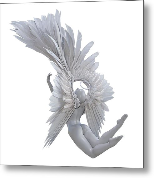 Human Metal Print featuring the digital art The Angelic Gift by Betsy Knapp