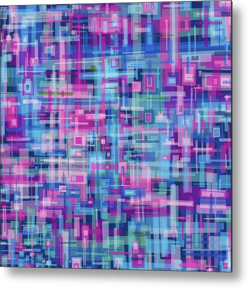 Nonobjective Metal Print featuring the digital art Thought Patterns #4 by James Fryer