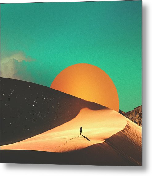 Collage Metal Print featuring the digital art Thrist by Fran Rodriguez