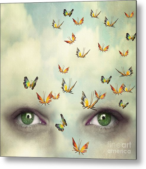 Beauty Metal Print featuring the photograph Two Eyes With The Sky And So Many by Valentina Photos