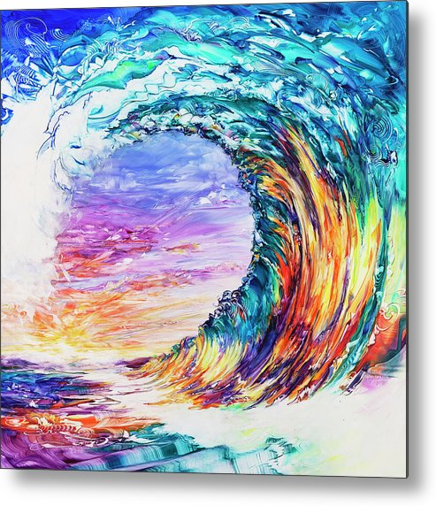 Hawaii Metal Print featuring the painting Wave Of Promises by Susan Card