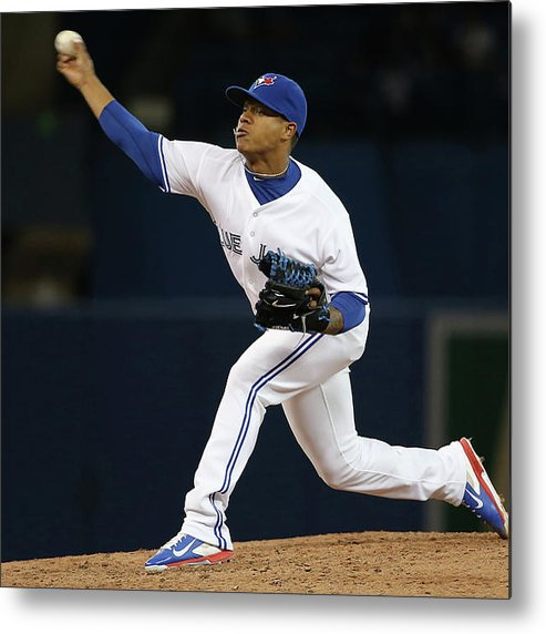 American League Baseball Metal Print featuring the photograph Marcus Stroman by Tom Szczerbowski