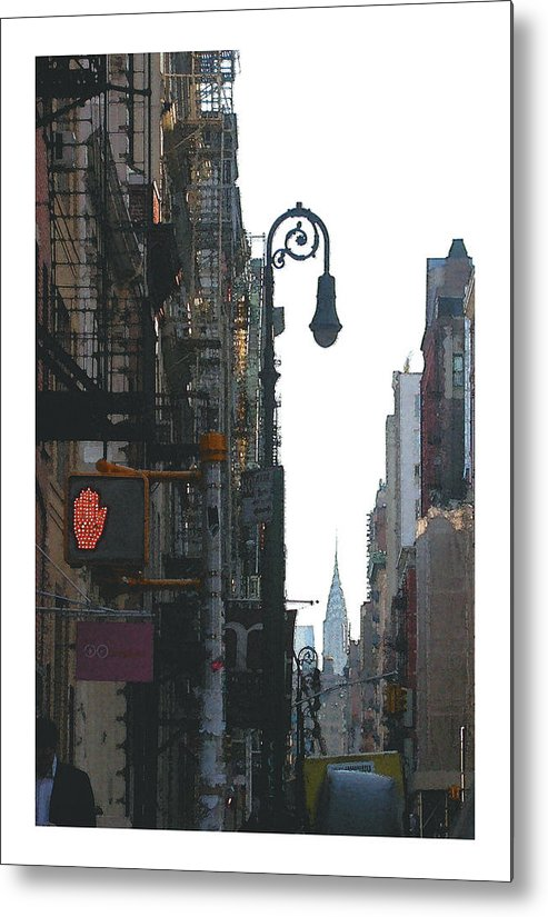 New York Metal Print featuring the photograph Soho Street Scene by David Kilborn