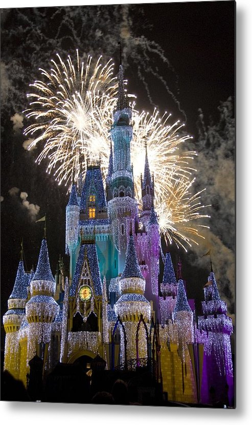 Cinderella Castle Metal Print featuring the photograph Cinderella Castle Spectacular by Charles Ridgway