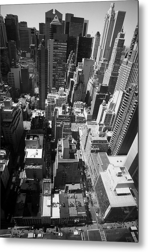 New York Metal Print featuring the photograph New York by Caroline Clark