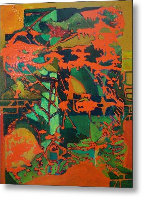 Lanscape Metal Print featuring the print 0range Garden by Meltem Quinlan