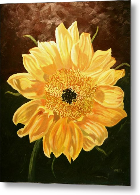 Sunflower Metal Print featuring the painting Solar Power by Robert Tower