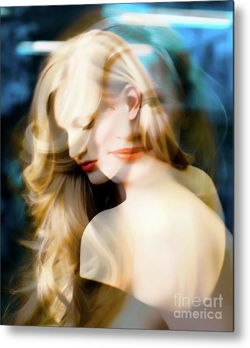Young Woman Color Metal Print featuring the photograph Svea S Dream by Kurbel Kasten