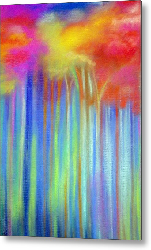 Landscpe Metal Print featuring the painting Enchanted Forest by Maritza Bermudez