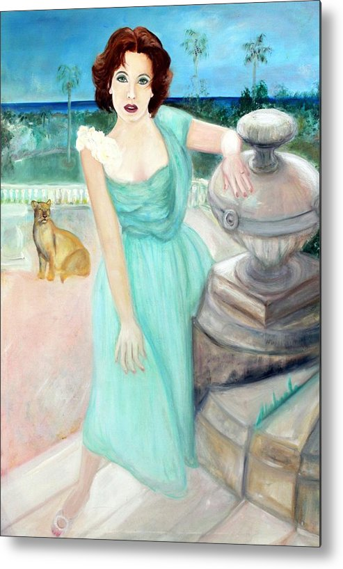 Portrait Metal Print featuring the painting Enchanted by Michela Akers