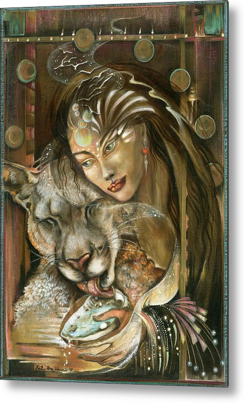 Wildlife Metal Print featuring the painting Madonna by Blaze Warrender