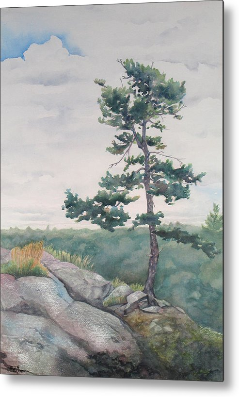Tree Metal Print featuring the painting Over The Shield by Debbie Homewood