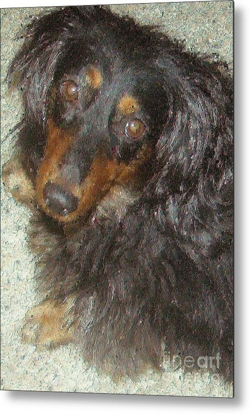 Portraits Metal Print featuring the painting Portrait Of Annie by Don Phillips