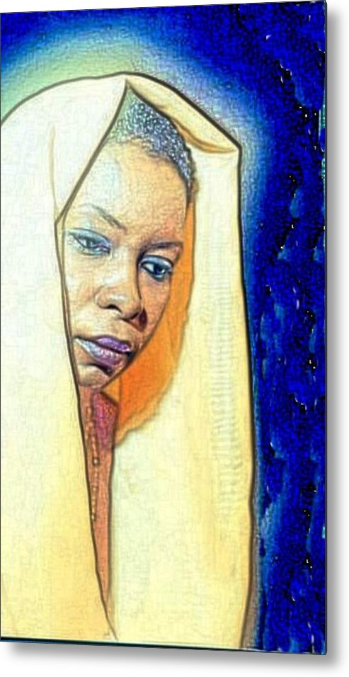 Metal Print featuring the painting Queen by Kevin E Taylor Sr MFA