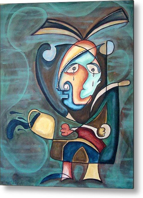 Abstract Metal Print featuring the painting Untitled by W Todd Durrance