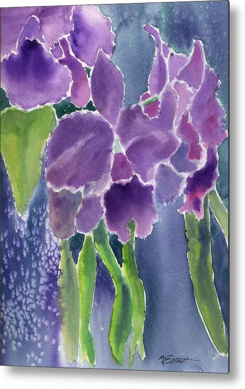 Orchids Metal Print featuring the painting Orchid Rain by Marsha Elliott