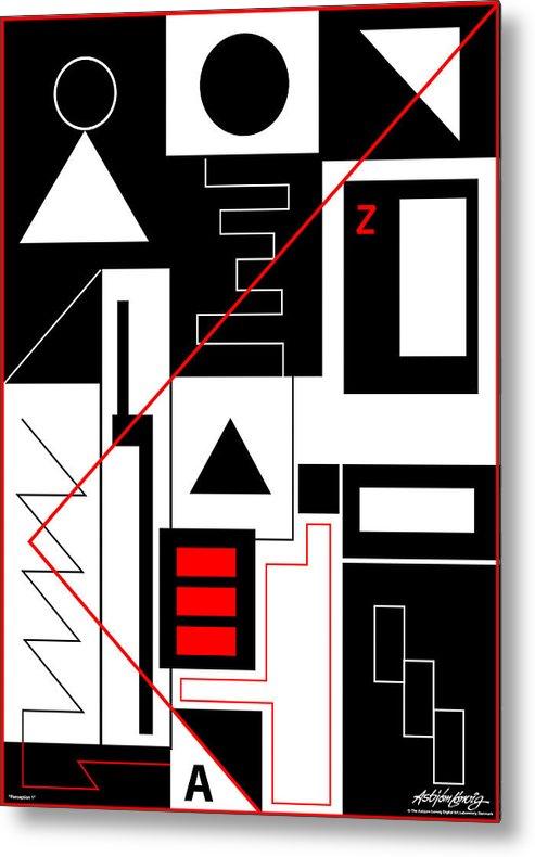Asbjorn Lonvig Metal Print featuring the digital art Perception I by Asbjorn Lonvig