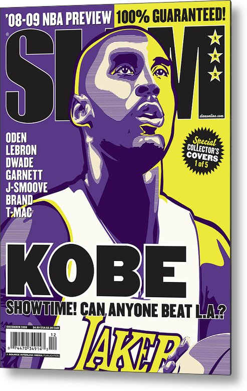 Kobe Bryant Metal Print featuring the photograph Kobe: Showtime! Can Anyone Beat L.A.? SLAM Cover by Slam