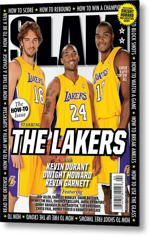 Kobe Bryant Metal Print featuring the photograph The Lakers SLAM Cover by Getty Images