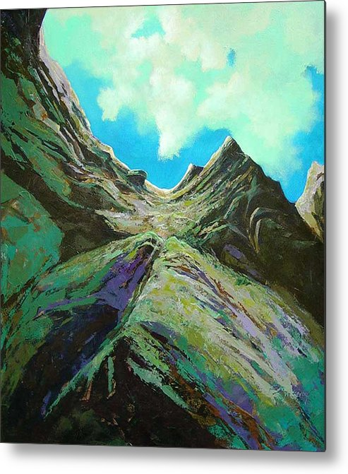 Landscape Metal Print featuring the painting The Climb by Dale Witherow