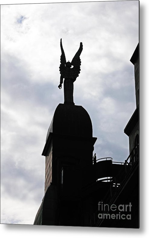 Looking Out In Montreal Metal Print featuring the photograph Looking Out In Montreal by John Rizzuto