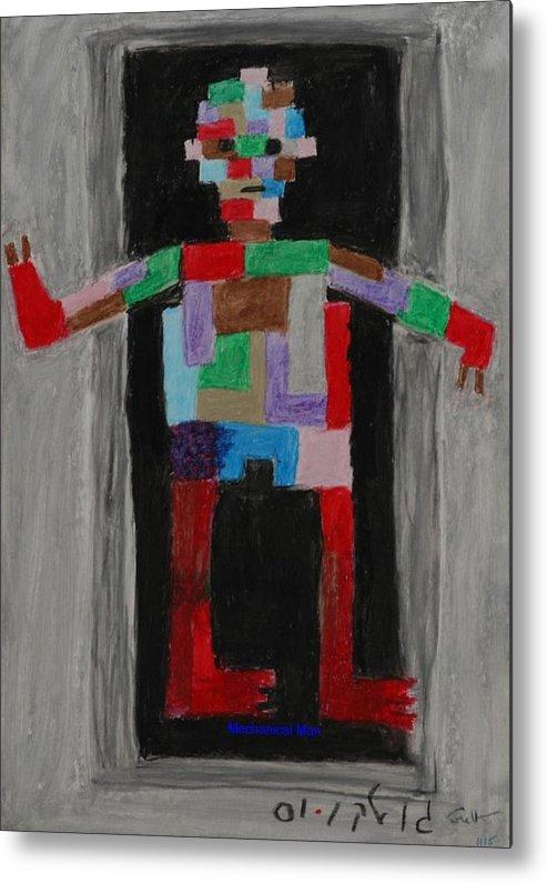 Children Metal Print featuring the painting Mechanical Man by Harris Gulko