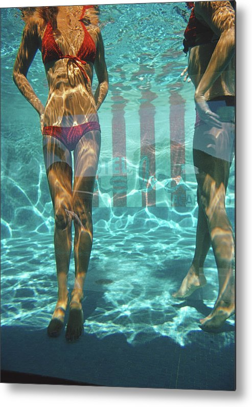 Underwater Metal Print featuring the photograph Pool At Las Brisas by Slim Aarons