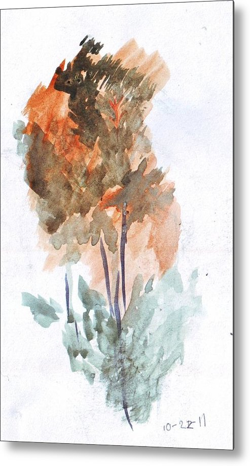 Watercolor Metal Print featuring the painting Watercolor Sketch by Kevin Russell