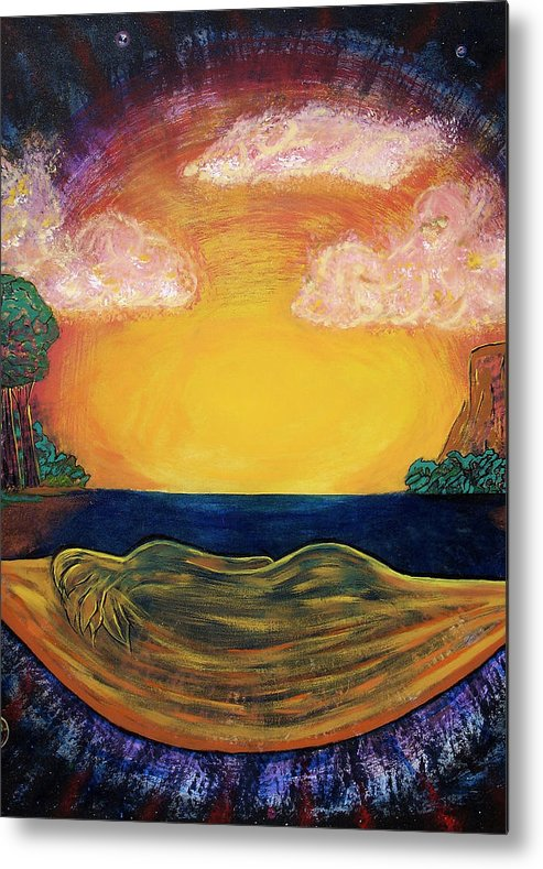 Goddess Metal Print featuring the painting Dreaming Goddess by Eric Singleton
