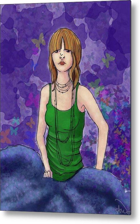 Metal Print featuring the digital art Butterfly by Aimee Helsper