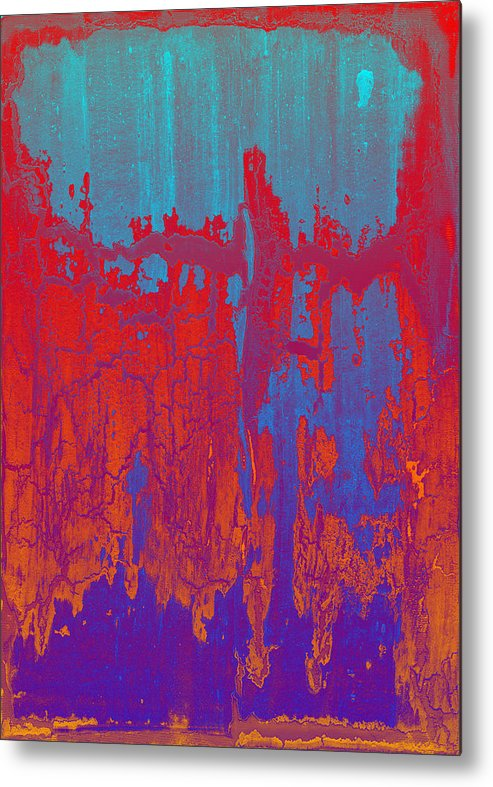 Crackle Metal Print featuring the painting Fractures Version 1 by F Michael Wells