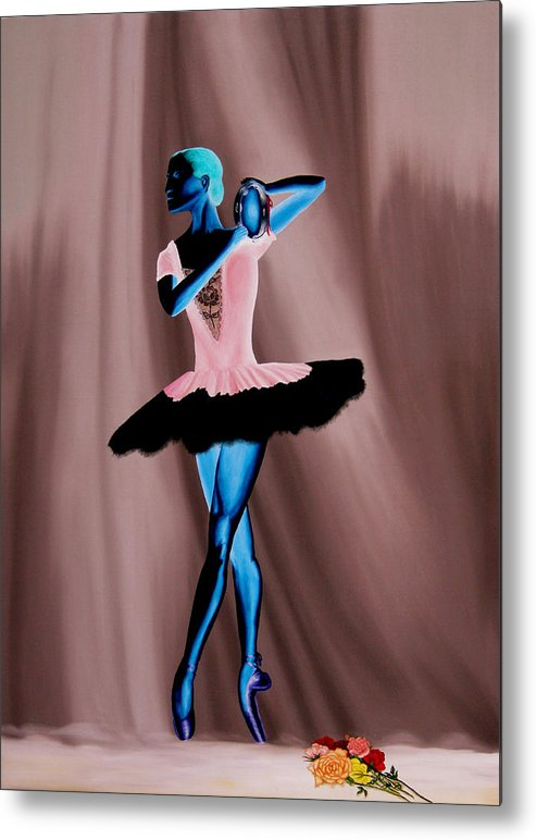 Ballerina Metal Print featuring the painting Prima Ballerina by Ivan Rijhoff