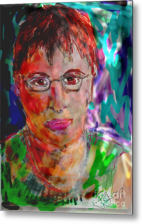 Self Portrait Metal Print featuring the mixed media Self Portrait by Joyce Goldin