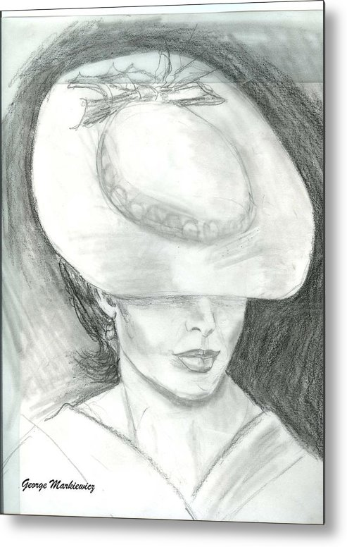 Woman Of Mystery Metal Print featuring the print Mysterious by George Markiewicz