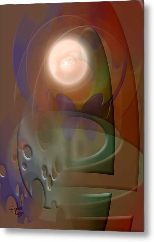 Abstract Metal Print featuring the digital art Rebirth by Stephen Lucas