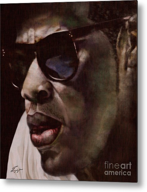 Jay Z Metal Print featuring the painting The Pied Piper Of Intrigue - Jay Z by Reggie Duffie
