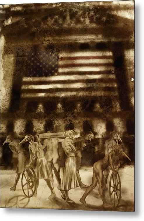 Figure Metal Print featuring the digital art Amerika by Tom Durham