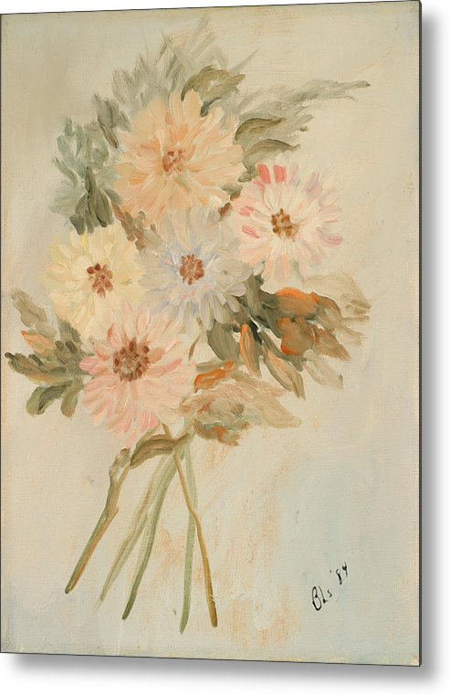 Floral Still Life Metal Print featuring the painting Aster Bouquet by Betty Stevens