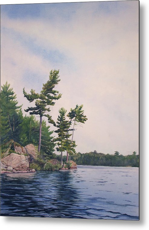 Canadian Shield Metal Print featuring the painting Canadian Shield Sculpture No. 2 by Debbie Homewood