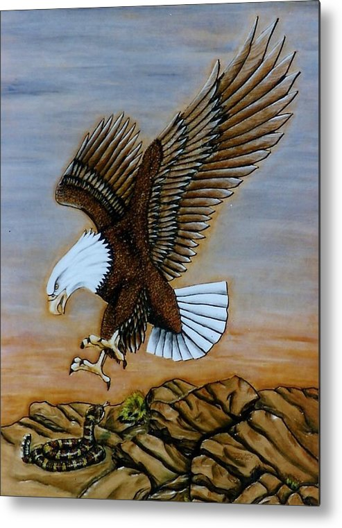 Animals Metal Print featuring the painting Look Out. by Lilly King
