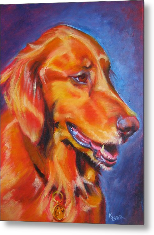 Dog Portrait Metal Print featuring the painting Madison by Kaytee Esser