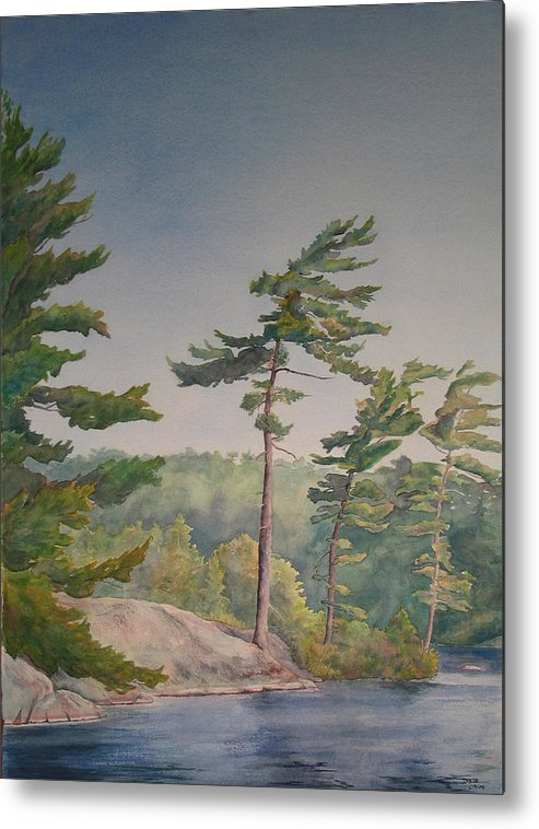 Lake Metal Print featuring the painting O Canada No.1 by Debbie Homewood