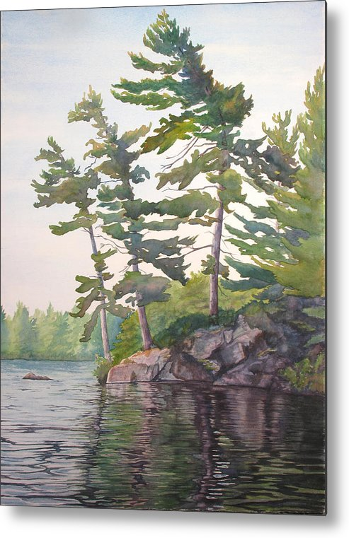 Rocks Metal Print featuring the painting O Canada No.2 by Debbie Homewood