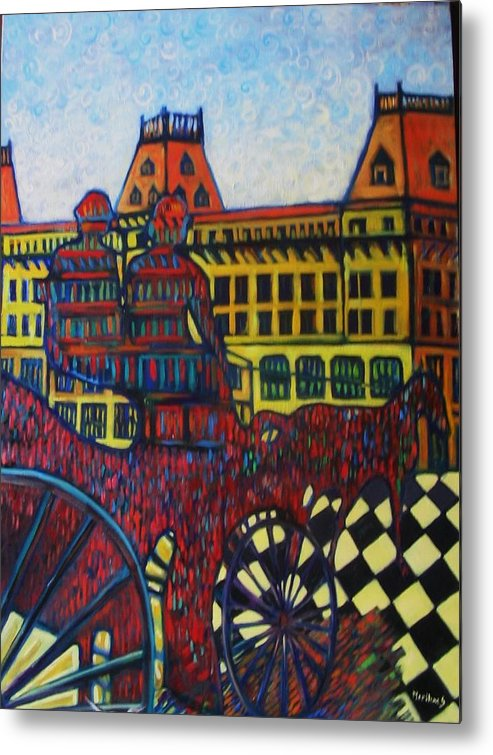 Metal Print featuring the painting The Road To Peace by Marilene Sawaf