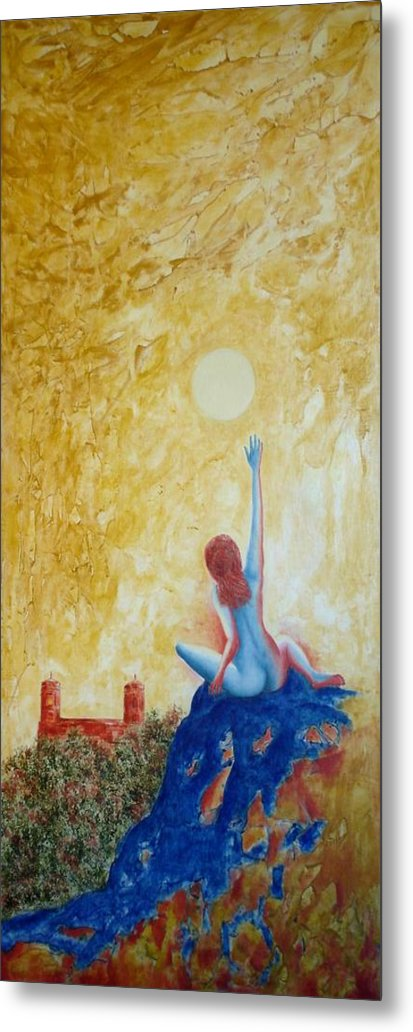 Nude Metal Print featuring the painting Central Park Venus No. 5. by Michael Price