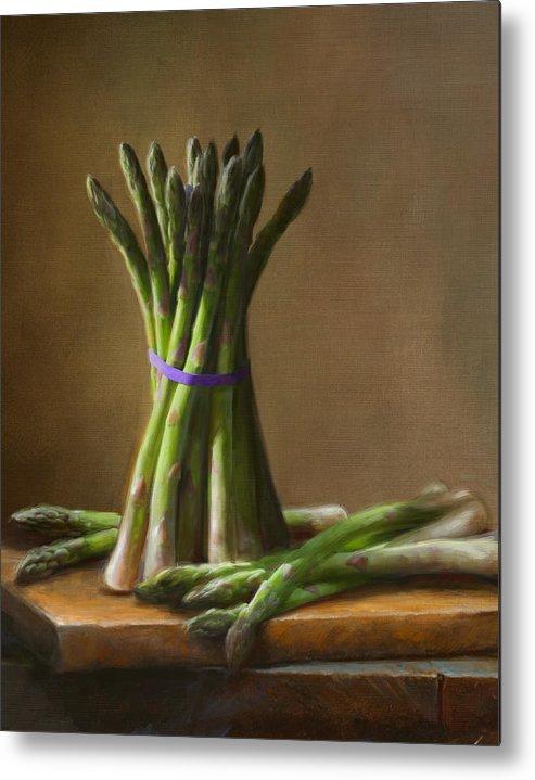 Robert Papp Metal Print featuring the painting Asparagus by Robert Papp