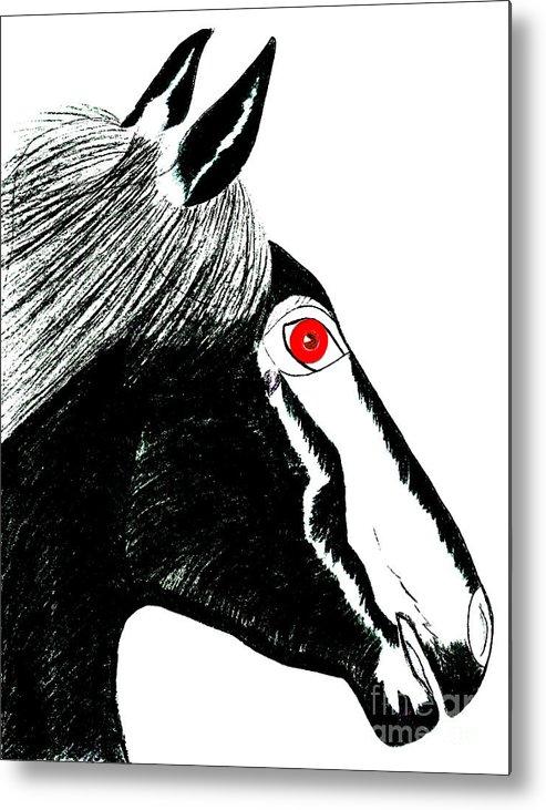 Horses Metal Print featuring the painting Darwin by Tess M J Iroldi
